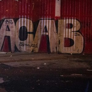 """""""'F The Police' -- It's Still There!"""": GOP Mayoral Candidate Rails Against Anti-Cop Graffiti"""