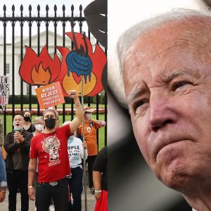 Protestors Boo Biden For 'Betrayal' Of Voters Wishes And Failing To Act On Climate Change