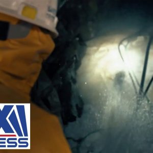 Fire In The Hole! Watch gold miners blast ice out of mine