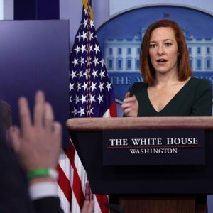 Jen Psaki Holds Press Briefing Following Disappointing Jobs Report