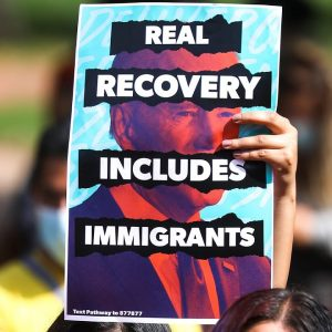 Protestors Outside White House Call For Immigration Reform In Reconciliation Bill