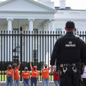Voting Rights Protestors Outside White House Face Arrest As They Seek End To Filibuster